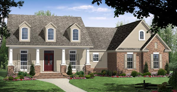 Country, Craftsman, European, Traditional House Plan 59116 with 3 Beds, 2 Baths, 2 Car Garage Elevation