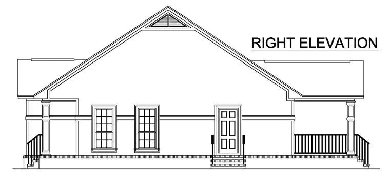 Country, European, Southern, Traditional House Plan 59118 with 2 Beds, 2 Baths Picture 2