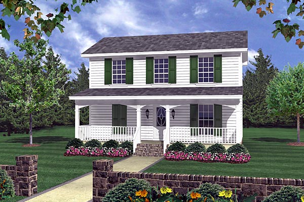 Country , Southern , Traditional House Plan 59120 with 3 Beds, 2 Baths Elevation