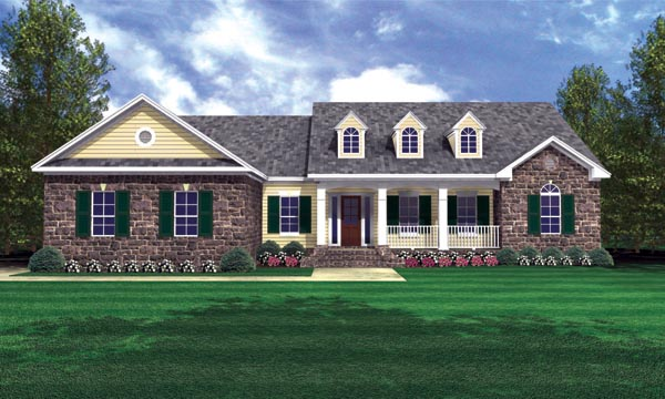 Country European Traditional House Plan 59121 Elevation