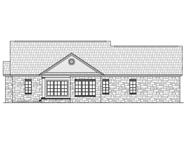 Country European Traditional House Plan 59121 Rear Elevation