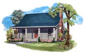 Plan Number 59122 - 950 Square Feet