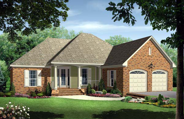 Country European Traditional House Plan 59123 Elevation