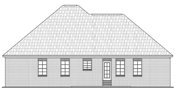 Country European Traditional House Plan 59123 Rear Elevation