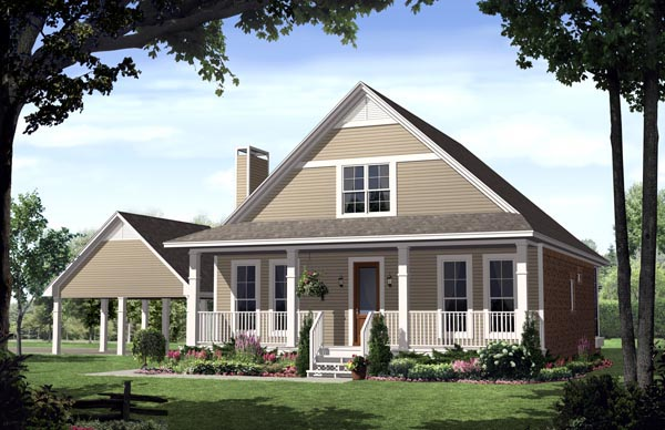 Country , Farmhouse , Traditional House Plan 59124 with 3 Beds, 3 Baths, 2 Car Garage Elevation