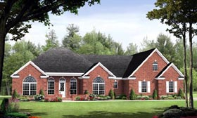 Country , European , Traditional House Plan 59128 with 3 Beds, 3 Baths, 2 Car Garage Elevation