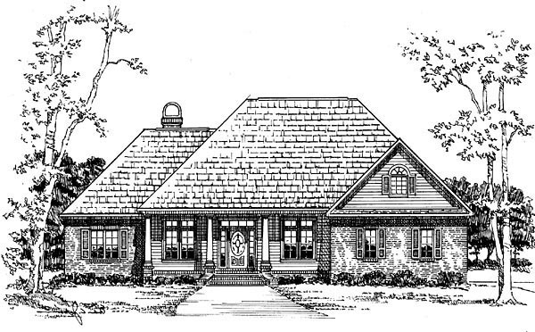 Country European French Country Traditional House Plan 59131 Elevation