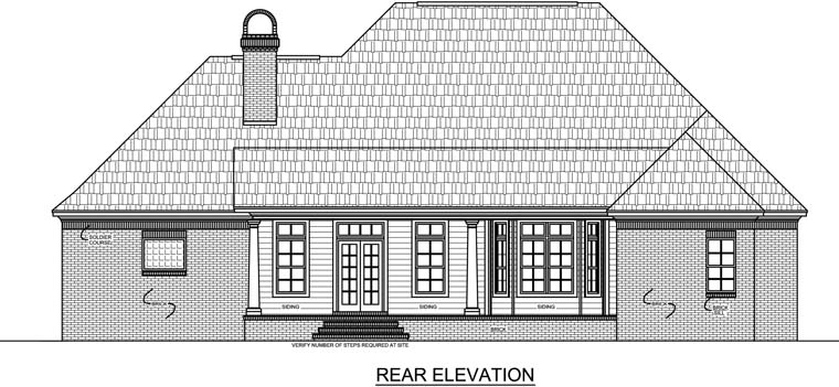 Country European French Country Traditional House Plan 59131 Rear Elevation
