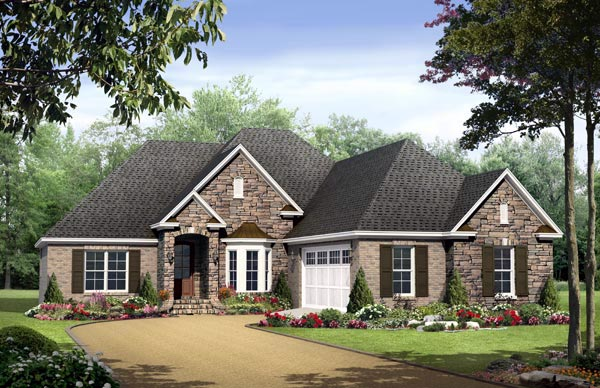 Country European Traditional House Plan 59132 Elevation