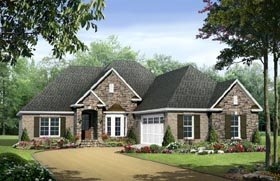 Country , European , Traditional House Plan 59133 with 3 Beds, 3 Baths, 2 Car Garage Elevation