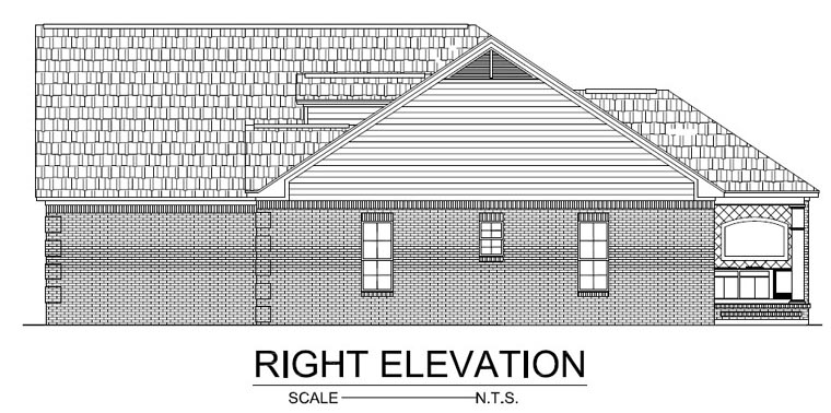 Country, Ranch, Traditional House Plan 59137 with 3 Beds, 3 Baths, 2 Car Garage Picture 1