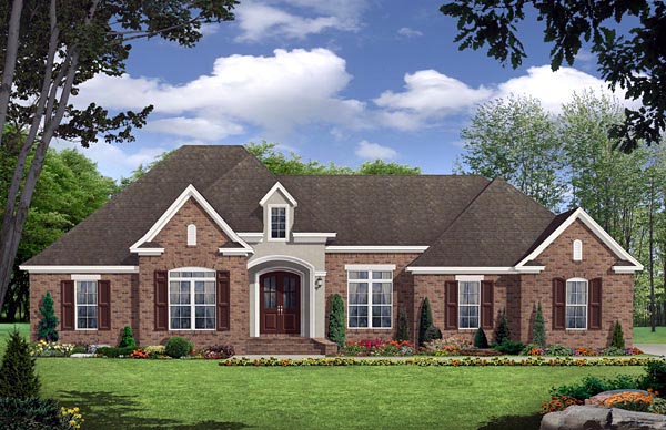Country, European, French Country, Traditional House Plan 59138 with 3 Beds, 3 Baths, 2 Car Garage Elevation