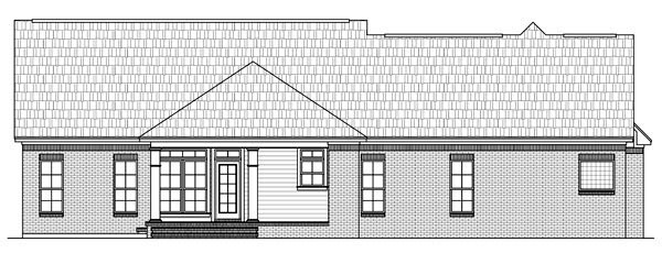 Country , European , French Country , Traditional , Rear Elevation of Plan 59139
