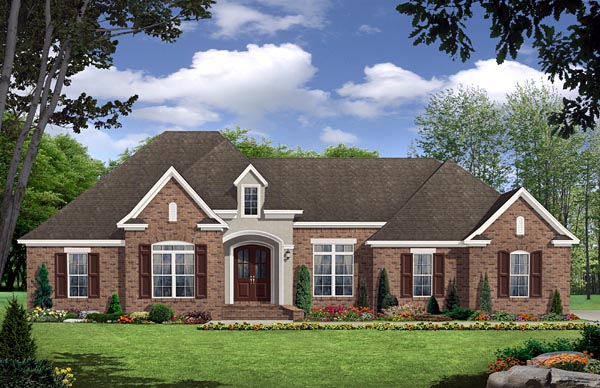 European French Country Traditional House Plan 59143 Elevation