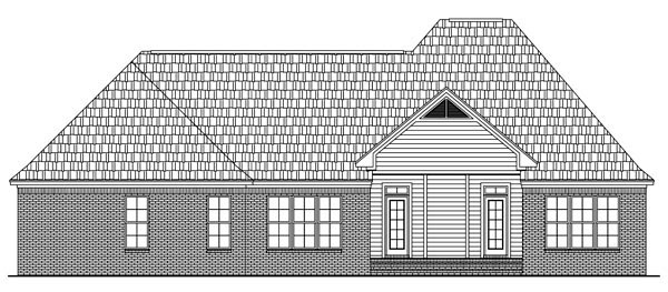 European French Country Traditional House Plan 59143 Rear Elevation