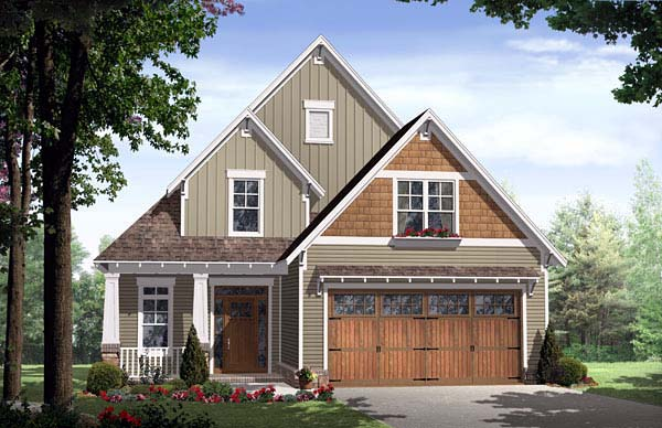 Bungalow Cottage Country Craftsman House Plan 59154 Elevation