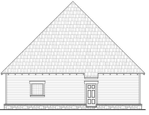 Bungalow Cottage Country Craftsman House Plan 59154 Rear Elevation