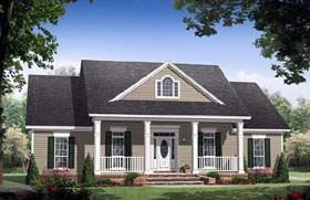 Traditional , Farmhouse , Country House Plan 59155 with 3 Beds, 3 Baths, 2 Car Garage Elevation