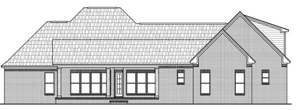Country, European, French Country, Southern House Plan 59157 with 4 Beds, 4 Baths, 2 Car Garage Rear Elevation