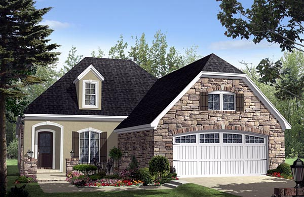 Cottage Country European French Country House Plan 59159 Elevation