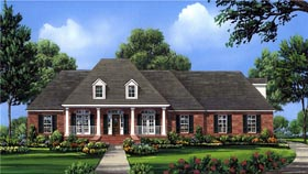 House Plan 59161 | European Southern Style Plan with 2755 Sq Ft, 4 Bedrooms, 4 Bathrooms, 3 Car Garage Elevation