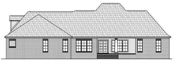 House Plan 59161 | European Southern Style Plan with 2755 Sq Ft, 4 Bedrooms, 4 Bathrooms, 3 Car Garage Rear Elevation