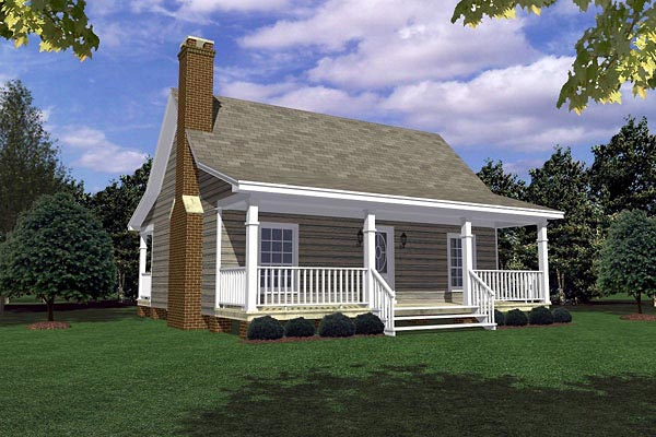 Cottage Country Southern House Plan 59163 Elevation