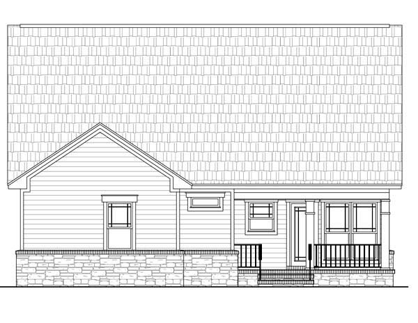 Cottage Country Craftsman House Plan 59164 Rear Elevation