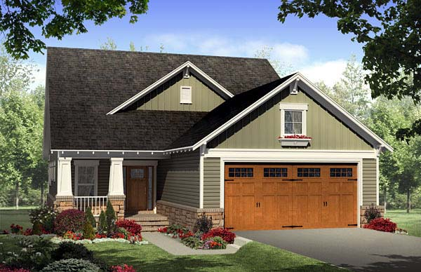 Cottage Country Craftsman House Plan 59166 Elevation