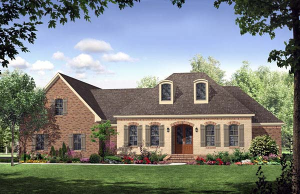 Country European French Country Southern House Plan 59169 Elevation