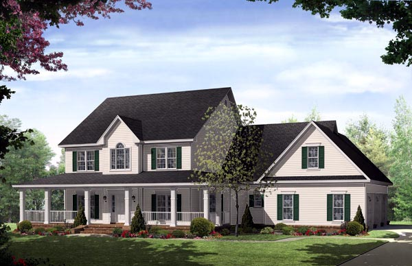 Country Farmhouse Traditional House Plan 59172 Elevation