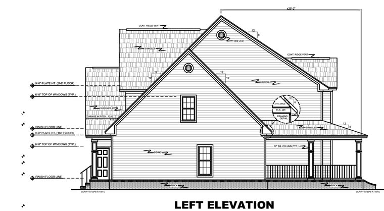 Country, Farmhouse, Traditional House Plan 59172 with 4 Beds, 4 Baths, 3 Car Garage Picture 3