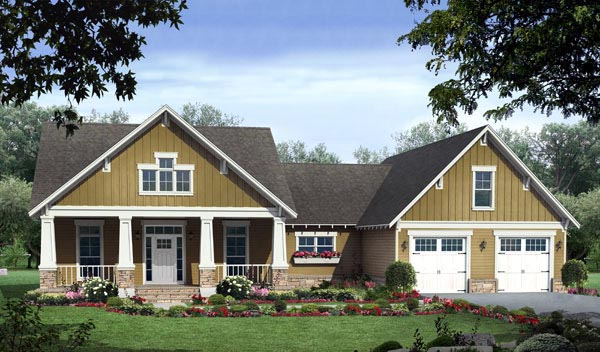 Craftsman House Plan 59178 Elevation