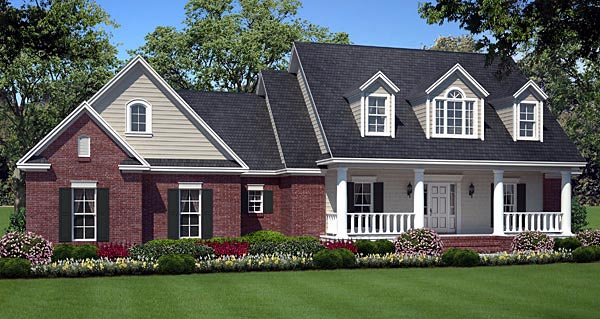 Country , Southern , Traditional House Plan 59180 with 3 Beds, 2 Baths, 2 Car Garage Elevation