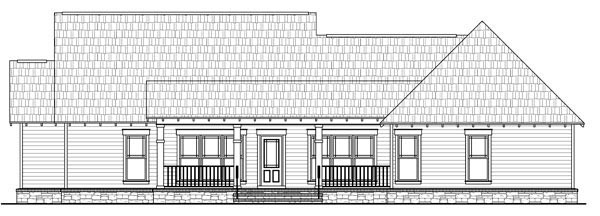Country European French Country Traditional House Plan 59182 Rear Elevation