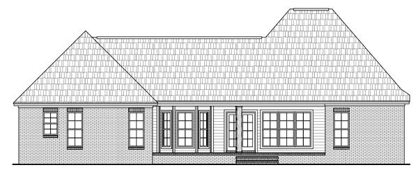 Country European French Country Traditional House Plan 59183 Rear Elevation