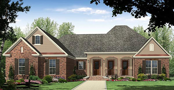 Country European French Country Traditional House Plan 59185 Elevation