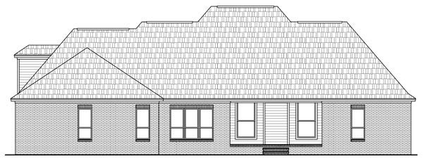 Country , European , Traditional , Rear Elevation of Plan 59189