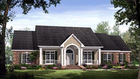 Country , European , Traditional House Plan 59190 with 4 Beds, 4 Baths, 2 Car Garage Elevation