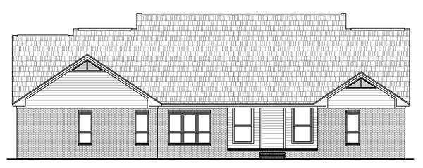 Country , European , Traditional , Rear Elevation of Plan 59190