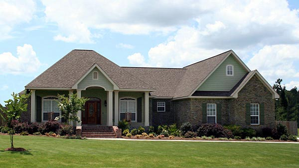 Country, European, Southern, Traditional House Plan 59195 with 3 Beds, 3 Baths, 2 Car Garage Elevation