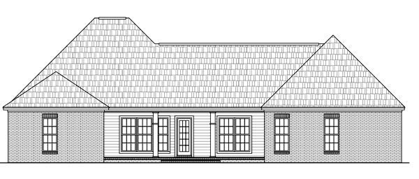 Country European Traditional House Plan 59197 Rear Elevation