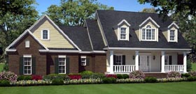 Country , Southern , Traditional House Plan 59200 with 3 Beds, 3 Baths, 2 Car Garage Elevation