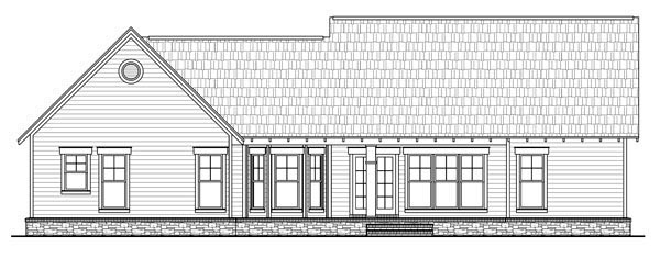 Bungalow Craftsman Traditional House Plan 59201 Rear Elevation