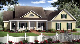 Country Farmhouse Traditional House Plan 59202 Elevation