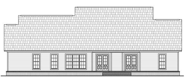 Country Farmhouse Traditional Rear Elevation of Plan 59202