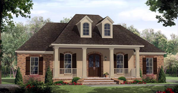 Country European French Country Southern Traditional House Plan 59203 Elevation