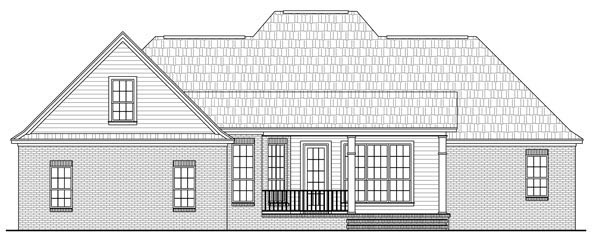 Country European French Country Southern Traditional House Plan 59203 Rear Elevation
