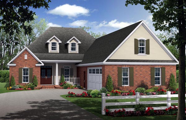 Country European French Country Traditional House Plan 59204 Elevation