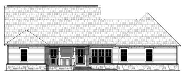 Bungalow Craftsman House Plan 59207 Rear Elevation
